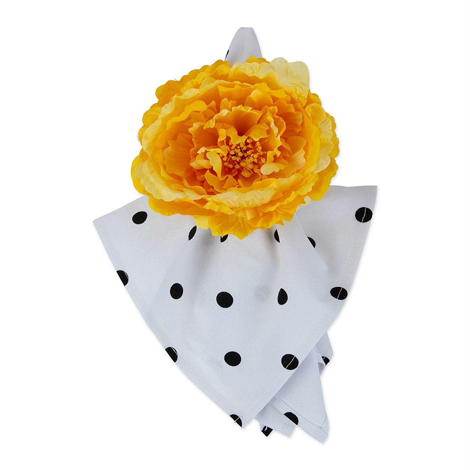 Rosdorf Park Jacque Peony Flower Napkin Ring Wayfair