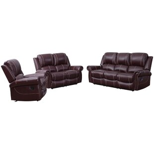 Lopp 3 Piece Leather Living Room Set
