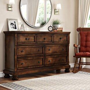 Three Posts Seville 7 Drawer Standard Dresser