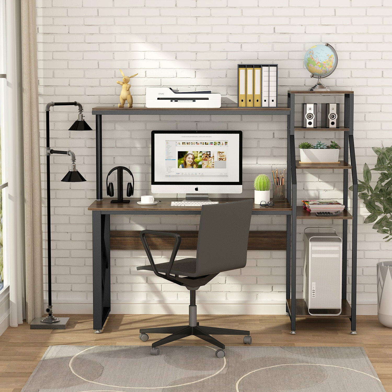 Orren Ellis Zakariyah Desk With Hutch Reviews Wayfair Ca