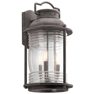Best Galsworthy 3-Light Outdoor Wall Lantern By Beachcrest Home