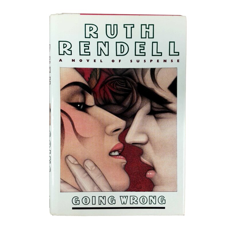 Booth Williams Rare And Collectible 1990 Going Wrong By Ruth Rendell Authentic Decorative Book Perigold