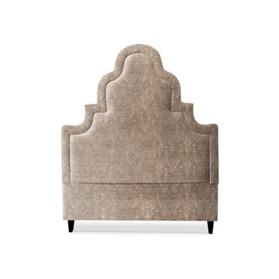 Meela Upholstered Panel Headboard My Chic Nest Body Fabric: Caitlin Natural, Leg Color: Acrylic, Size: California King