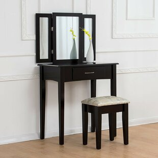 Oberlin Dressing Table Set With Mirror By ClassicLiving