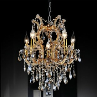 Astoria Grand Orr Crystal 6-Light Chandel..