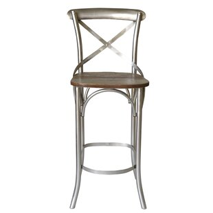 Minerva Cross 31 Bar Stool (Set of 2) Gracie Oaks