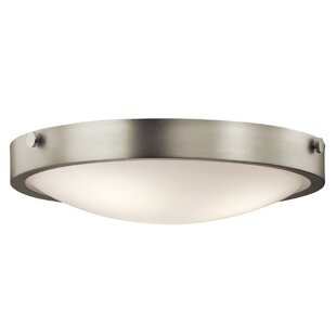 Best Price Jacoby 3-Light Flush Mount By Latitude Run