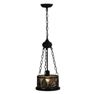 Meyda Tiffany Mountain Pine 1-Light Inverted Pendant