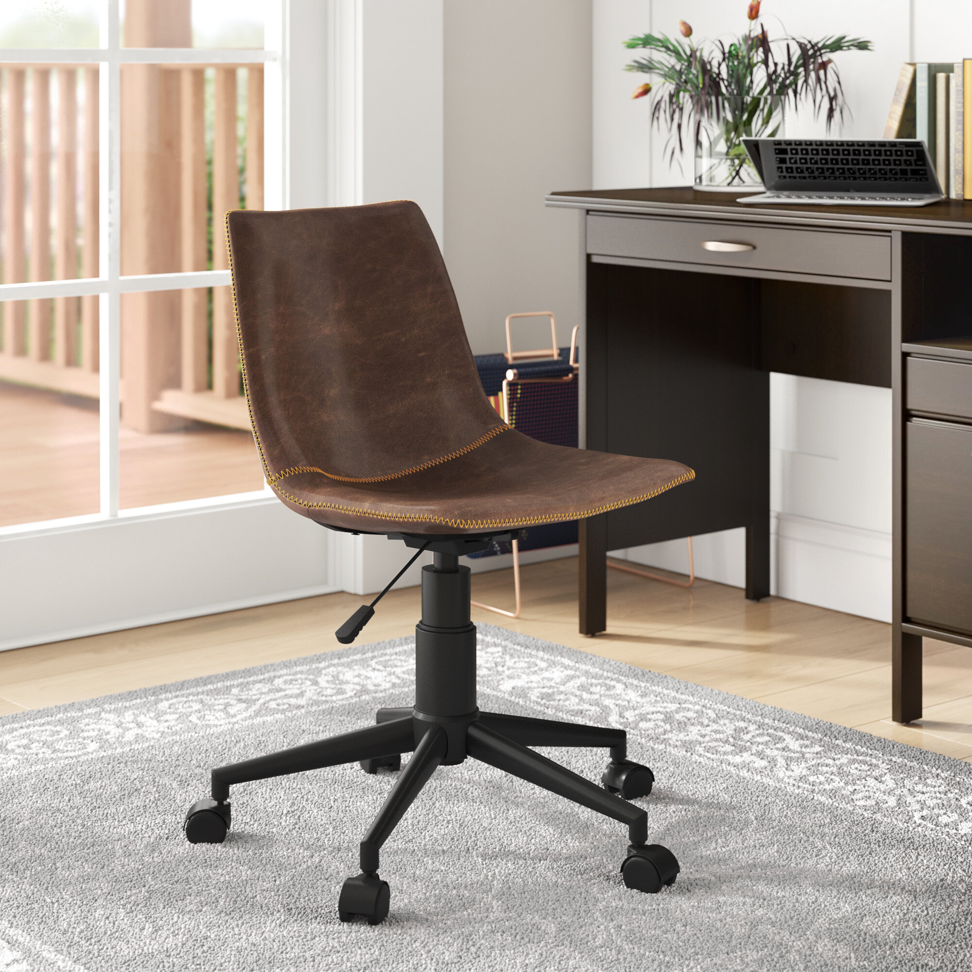 Brown Leather Office Chairs You Ll Love In 2020 Wayfair