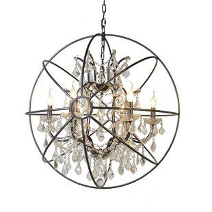 Bargain Cearbhall 6-Light Globe Chandelier By Gracie Oaks