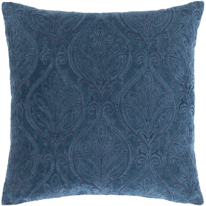 Owendale Velvet Damask 20'' Throw Pillow Cover
