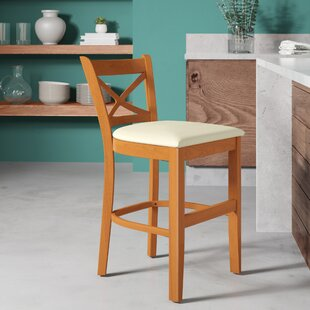Helsley Cross Back 24 Bar Stool by August Grove