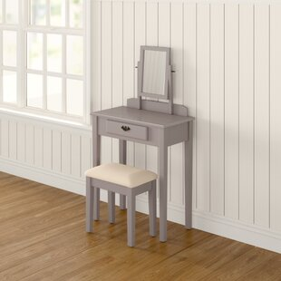 Arrowwood Dressing Table Set With Mirror By Three Posts