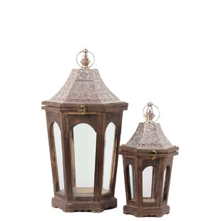 Find for Home and Garden Accents 2 Piece Wood Lantern Set By Urban Trends