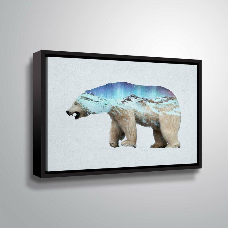 Arctic Bear CANVAS Panel Wall Home Decor Office WALL Art Extra Large Modern Wall Giclee Landscape PRINT Art Framed Paper Ready To Hang Ursa
