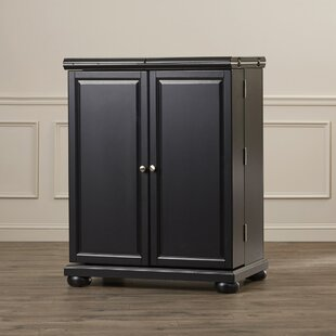 Darby Home Co Pottstown Expandable Bar Cabinet with Wine Storage