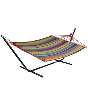 Ebern Designs Ilsa Striped Tree Hammock
