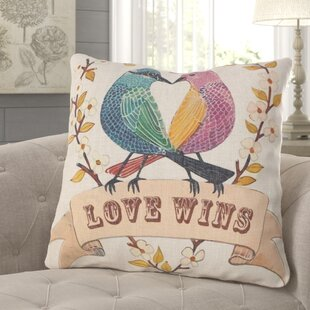 Hayes Love Birds Throw Pillow
