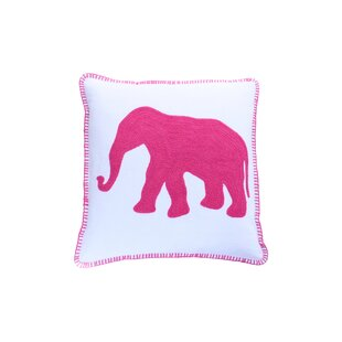 Leticia Elephant Icon Cotton Throw Pillow