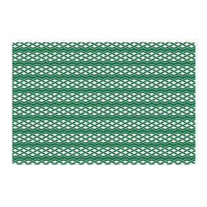 Celtic Texture Green/White Area Rug