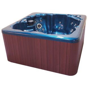 QCA Spas Tahoe 6-Person 65-Jet Spa with Waterfall and LED Light