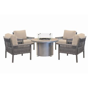 Chipps 5 Piece Multiple Chairs Seating Group With Cushions By Brayden Studio