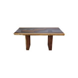 Loon Peak Isabell Live Edge Solid Wood Di..