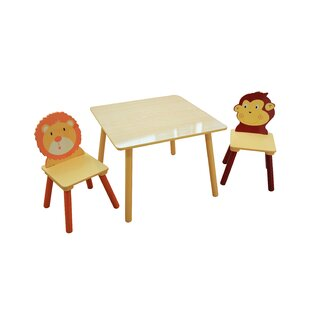 Duquette Children's 3 Piece Square Table And Chair Set By Zoomie Kids