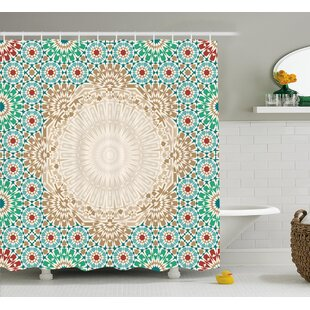 Damiane Antique Floral Mosaic Form Single Shower Curtain