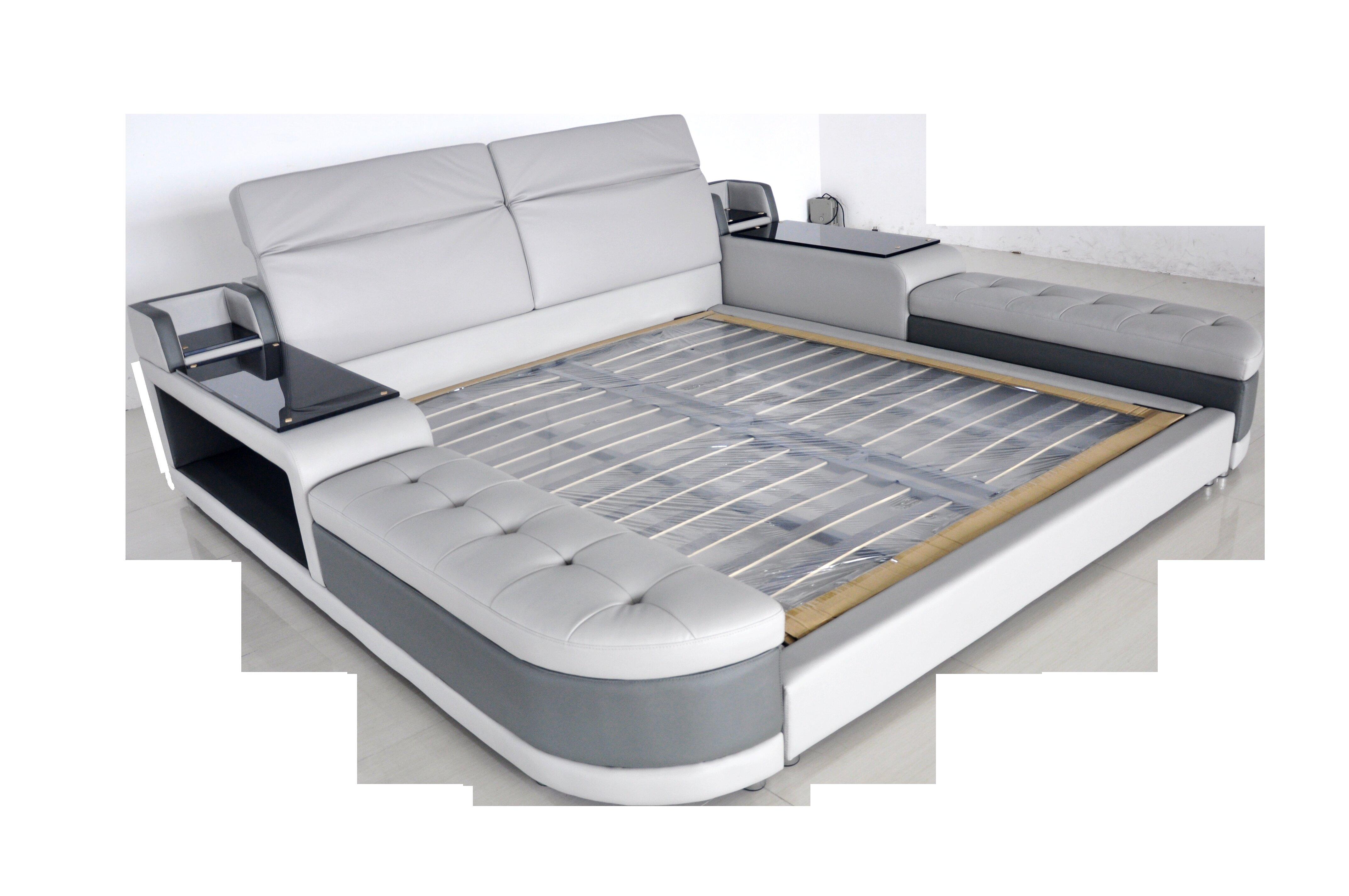 Orren Ellis Aslef King Upholstered Low Profile Storage Platform Bed Wayfair