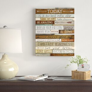 Inspirational Quotes & Sayings Wall Art You'll Love in 2019 | Wayfair