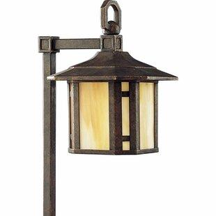 Alcott Hill Triplehorn 1-Light Brass Pathway Light