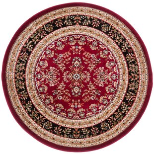 Ottis Lianne Red Indoor Area Rug by Charlton Home