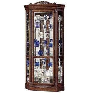 Breunig Lighted Corner Curio Cabinet
