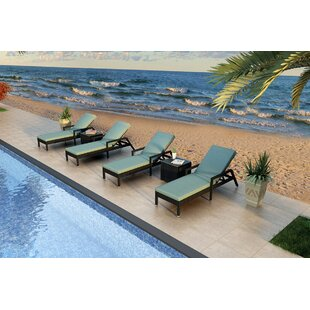 Urbana Reclining Chaise Lounge with Cushion and Table By Harmonia Living