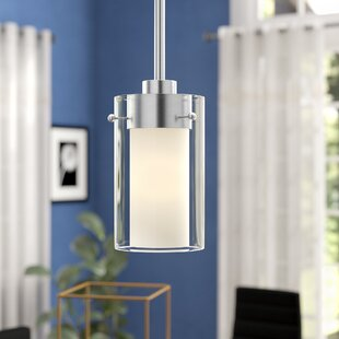 Latitude Run Levi 1-Light Cylinder Pendant