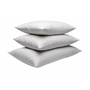 Quilted White Goose Feather Pillow