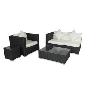 4-tlg. Sofa-Set mit Kissen von IHP24