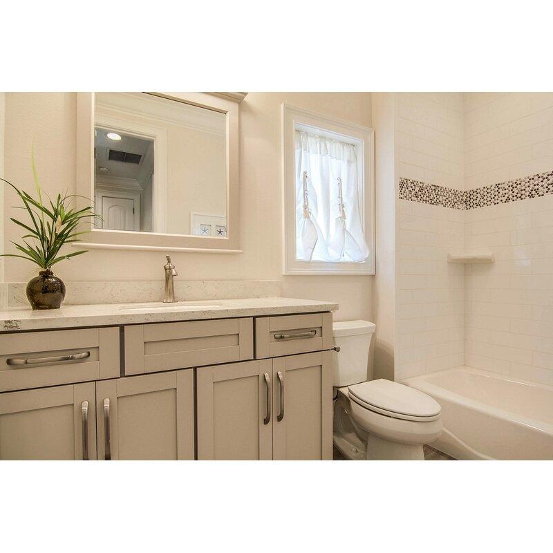 Emser Tile Vogue X Ceramic And Glass Cove Tile In White Matte - 6x8 bathroom tiles