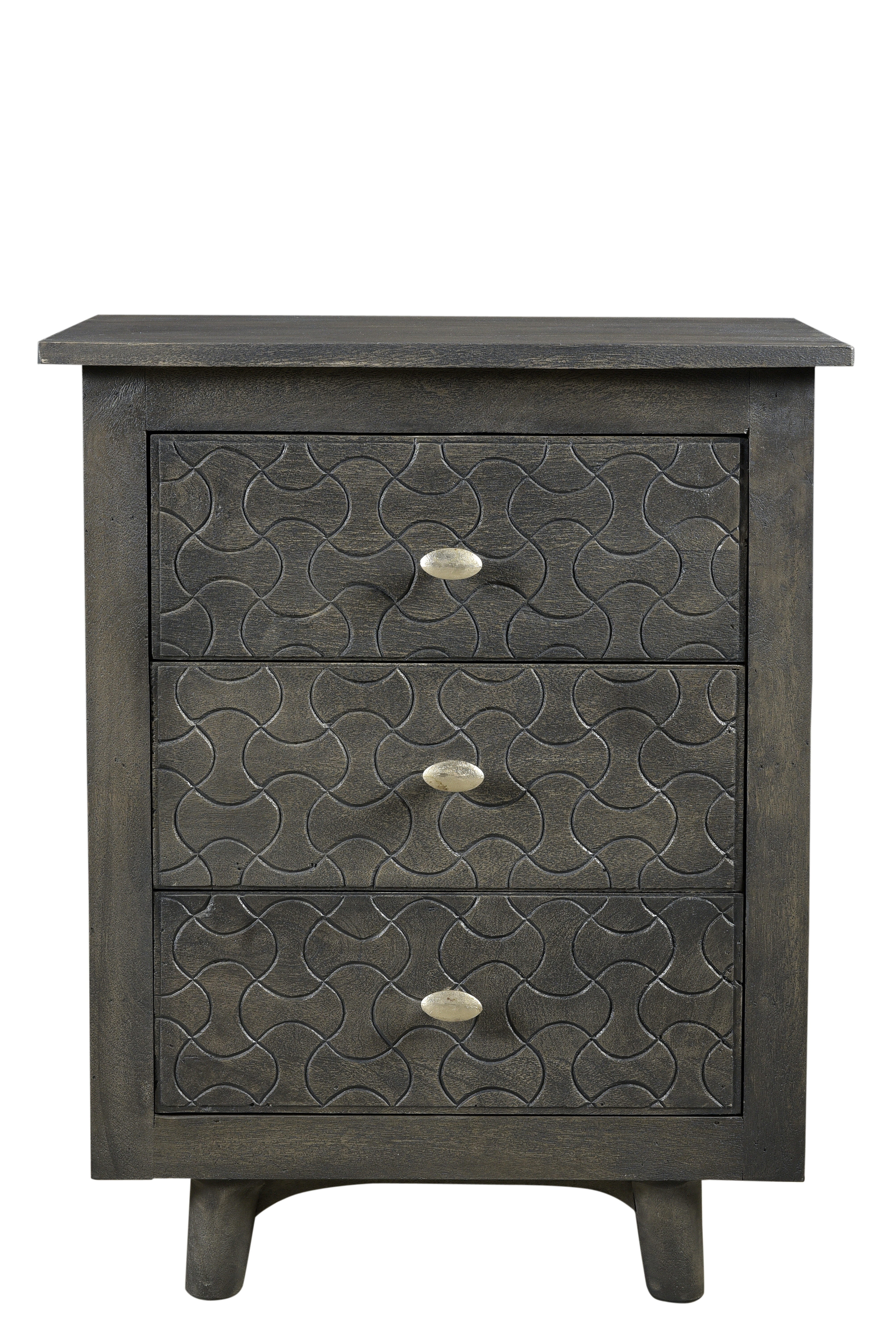 Bungalow Rose Endsley 3 Drawer Nightstand Wayfair