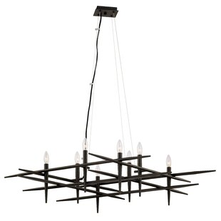 Orren Ellis Whipe 8-Light Candle Style Chandelier