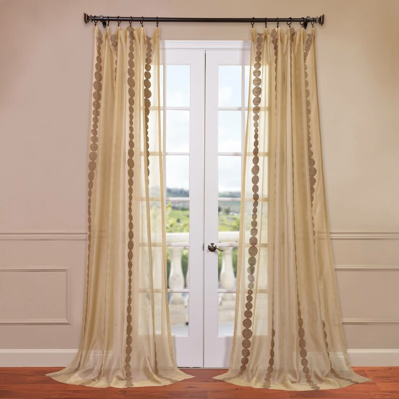 aurora product free geometric home faux reverse panel drapes blackout silk curtain garden trellis shipping x today overstock