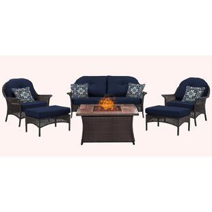 Bayou Breeze Kinnison 6 Piece Sofa Set with Cushions