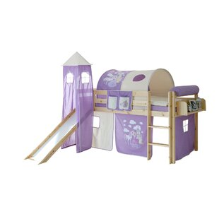 Dorian European Single Mid Sleeper Bed With Textile Set By Zoomie Kids