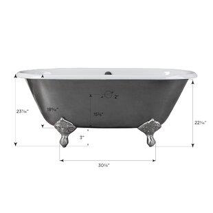 Maykke Rosa Clawfoot Soaking Bathtub
