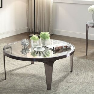 Brazoria Contemporary Round Metal Coffee Table by Brayden Studio Modern