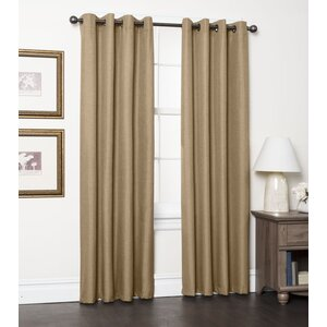 Arlontae Solid Blackout Thermal Grommet Curtain Panels (Set of 2)