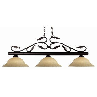 Fleur De Lis Living Beechwood 3-Light Pool Table Light Pendant