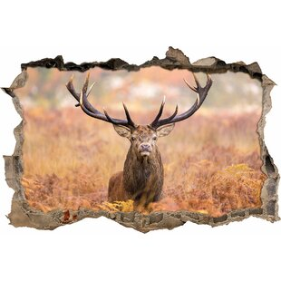 Big Stag In A Field Wall Sticker By East Urban Home