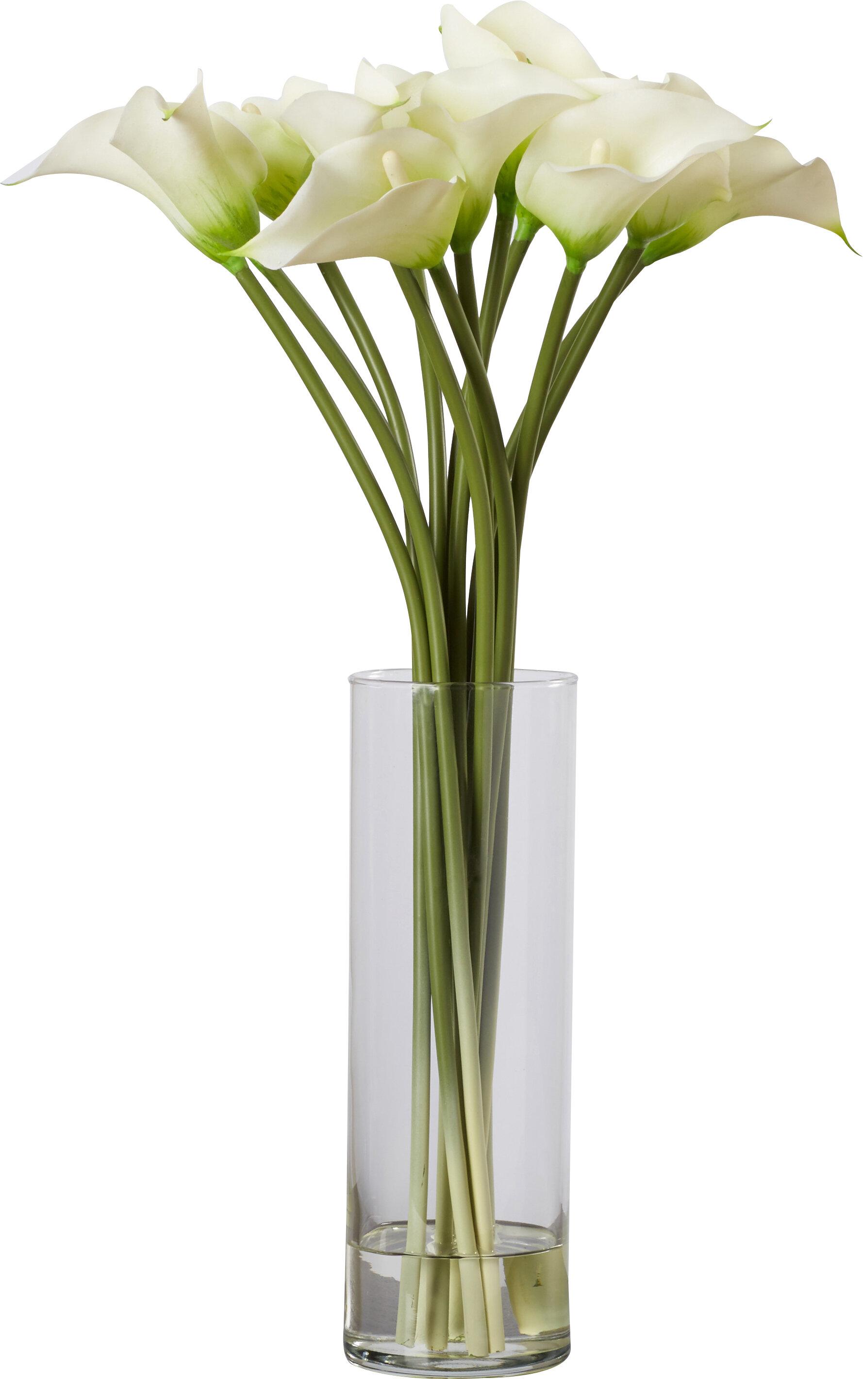 284 & Calla Lily Flower Arrangement in Flower Vase